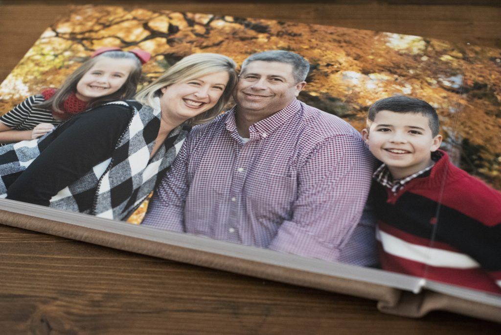 family photo album on coffee table in raleigh nc